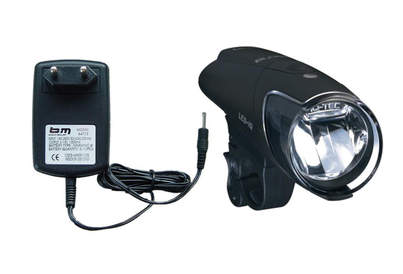 Busch /& Müller IXON Pure LED Frontal LÁMPARA incl baterías y cargador